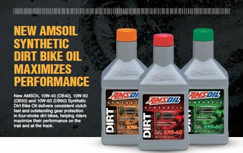 AMSOIL Synthetic Dirt Bile Oil Maximizes Performance